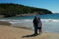 Jeff and Becky at Sand Beach in Acadia National Park