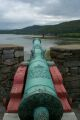 one of many cannons at Fort Ticonderoga
