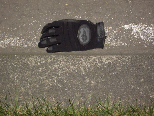 glove in the gutter