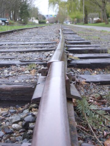 don't ride a train on these tracks